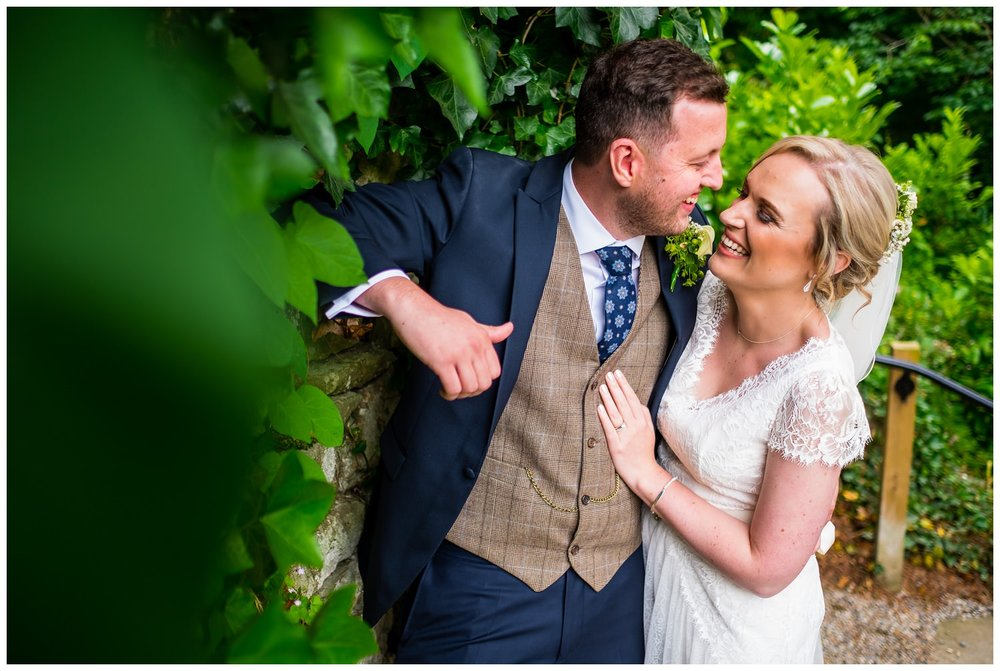 mitton hall wedding portrait