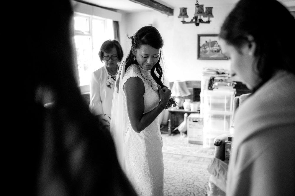 bride in dress