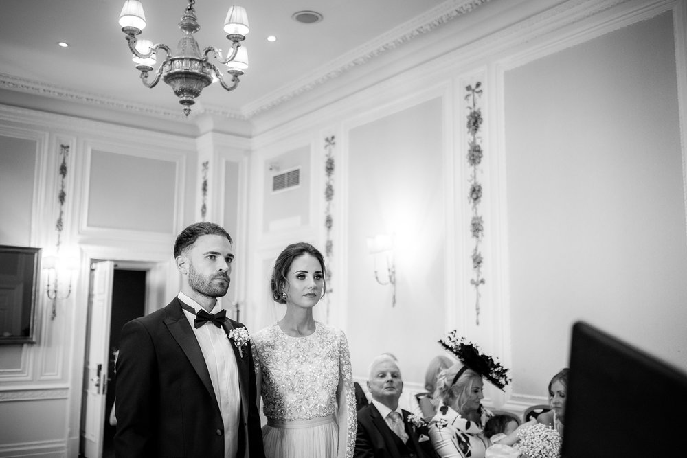 bride and groom during the ceremony at the midland hotel