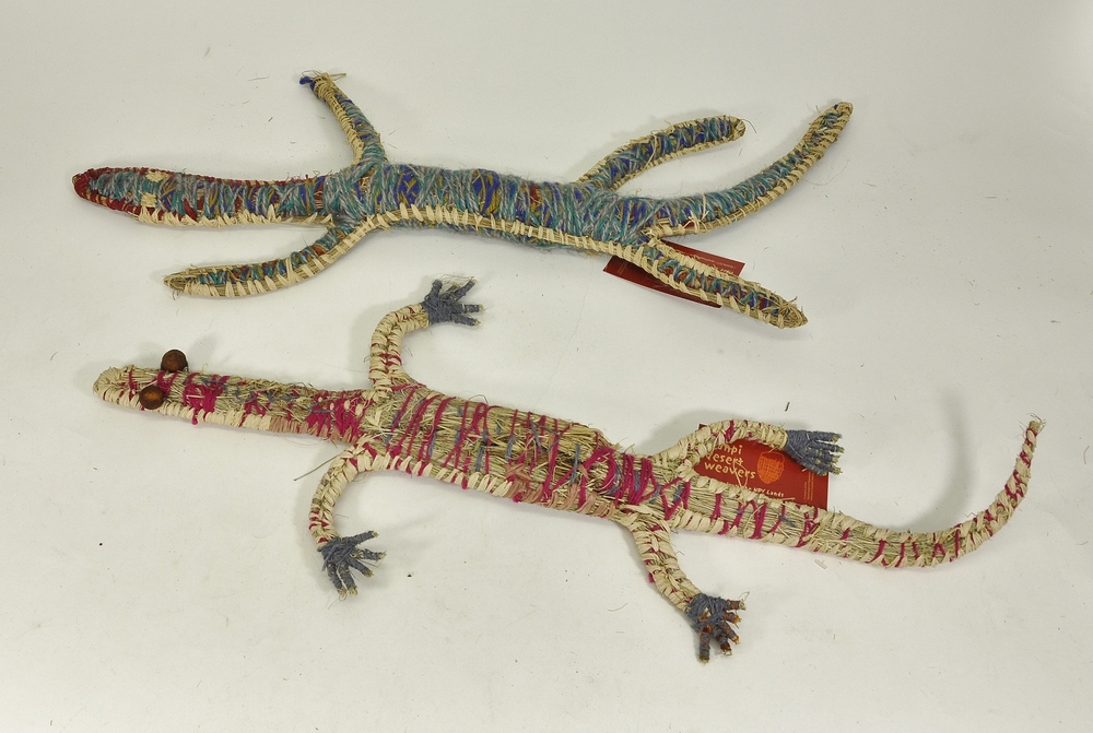 Two Goannas   SOLD