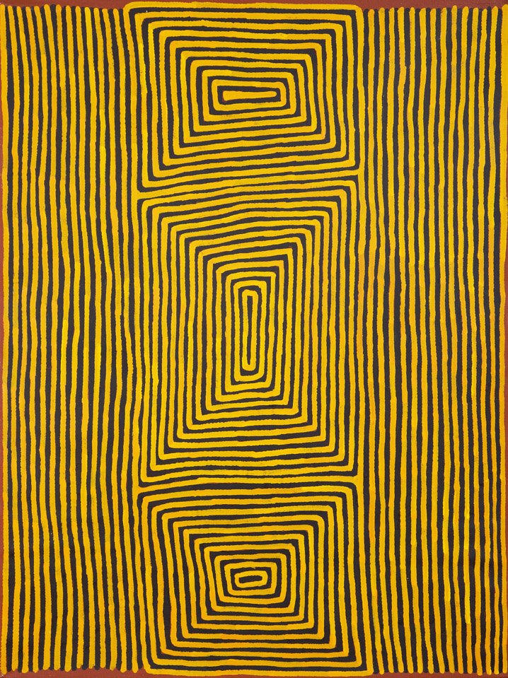 Ronnie Tjampitjinpa  Untitled  36 x 48 inches (91 x 122 cm) Acrylic on Belgian linen Papunya Tula Artists Catalog #RT1311018   EMAIL INQUIRY
