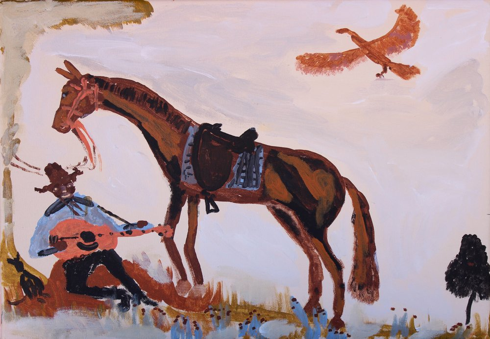 Jimmy Pompey 'Cowboy Story' & Recent paintings from Iwantja Art