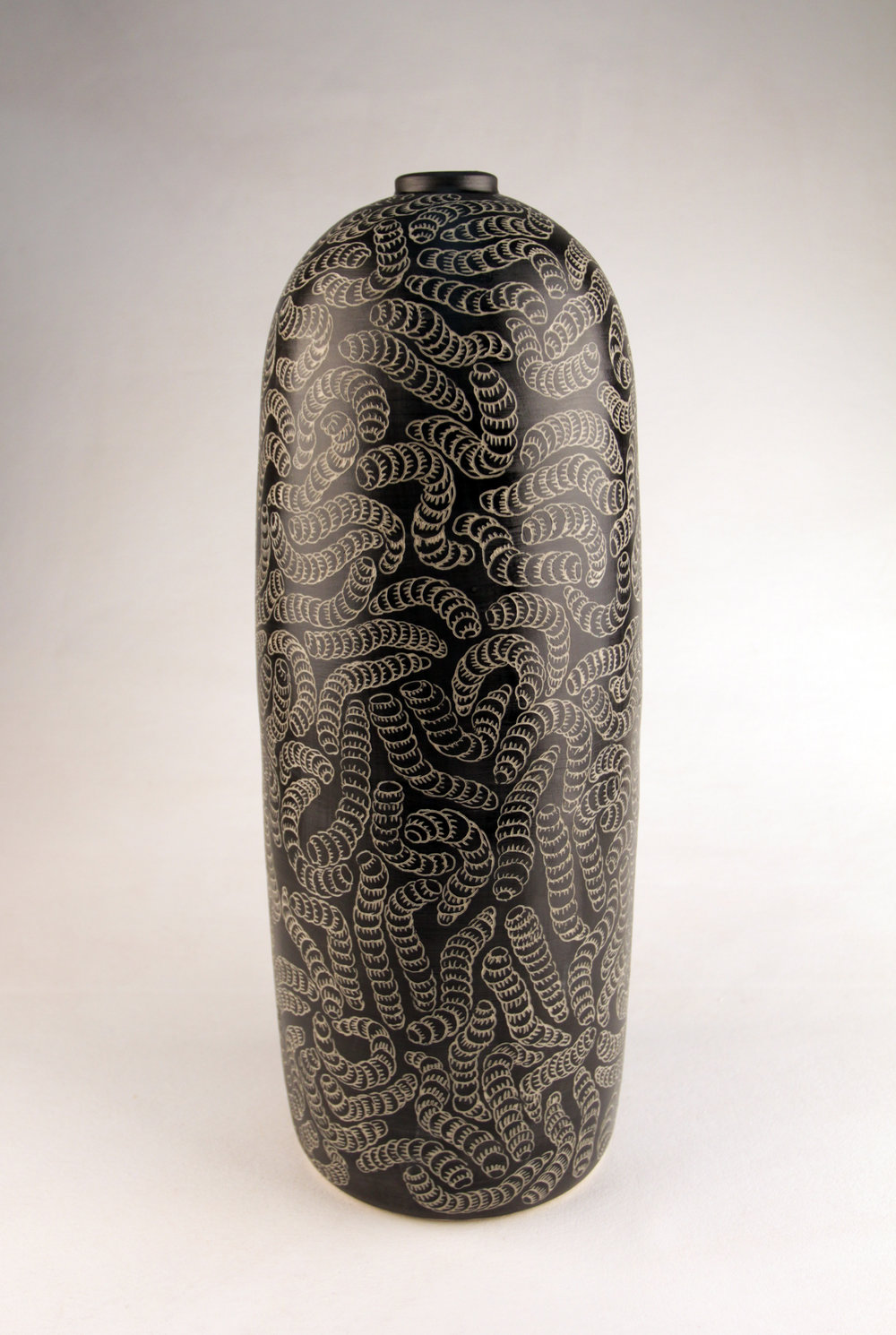 DEREK JUNGURRAYI THOMPSON  Maku Tjuta, 2016  435H x 166mm Stoneware Catalog #415C-16   Sold