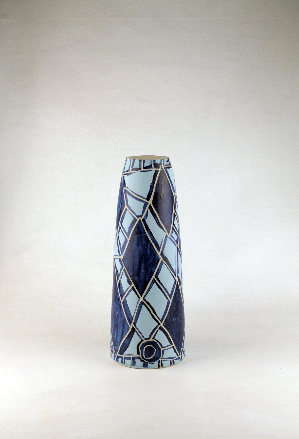 PEPAI JANGALA CARROLL  Walungurru, 2016   430H x 165mm Stoneware Catalog #522C-16   EMAIL INQUIRY
