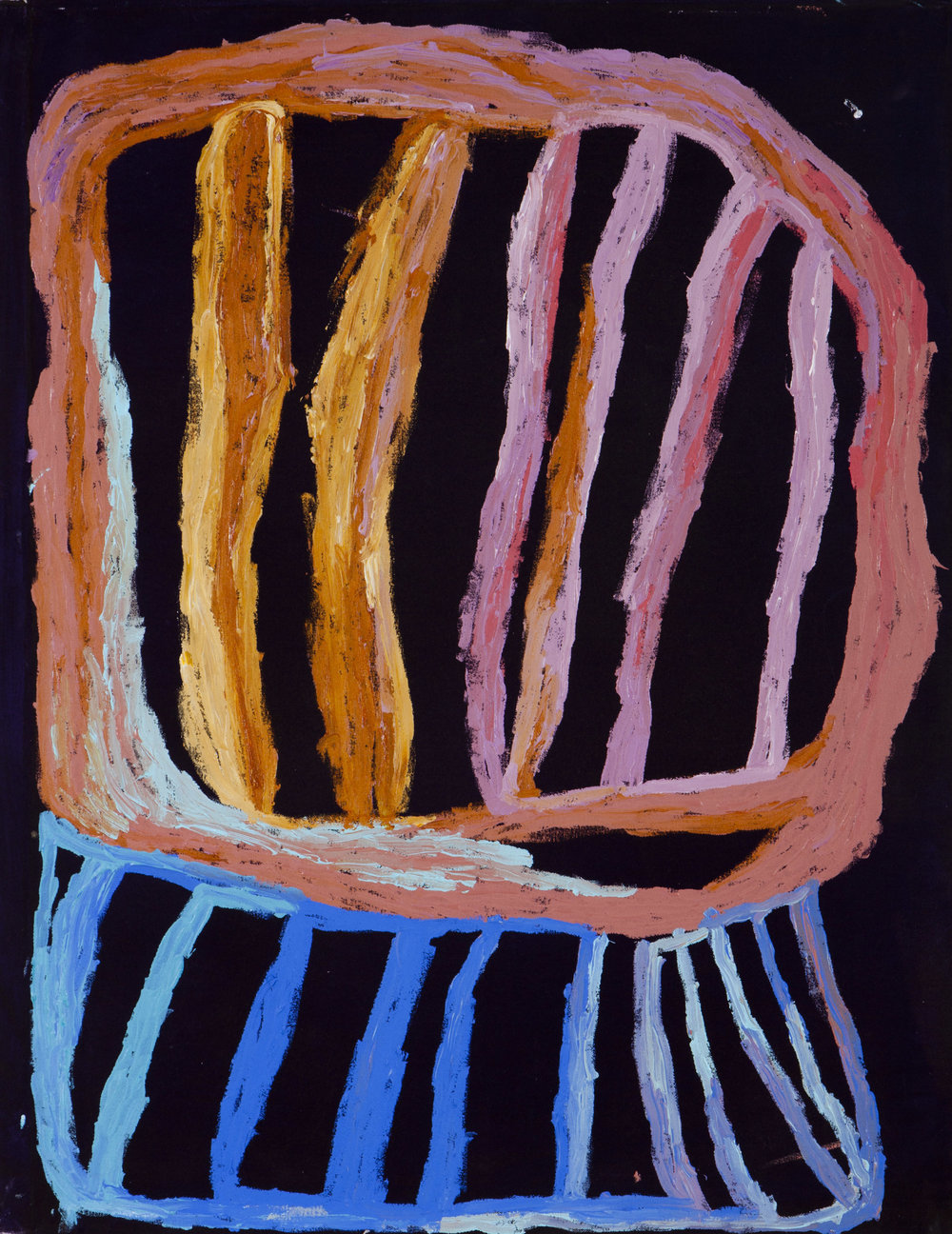 "NYARAPAYI GILES  Warmurrungu  30"" x 40"" (76 x 101 cm) Acrylic on Belgian linen Tjarlirli Artists catalog #12-237   SOLD"