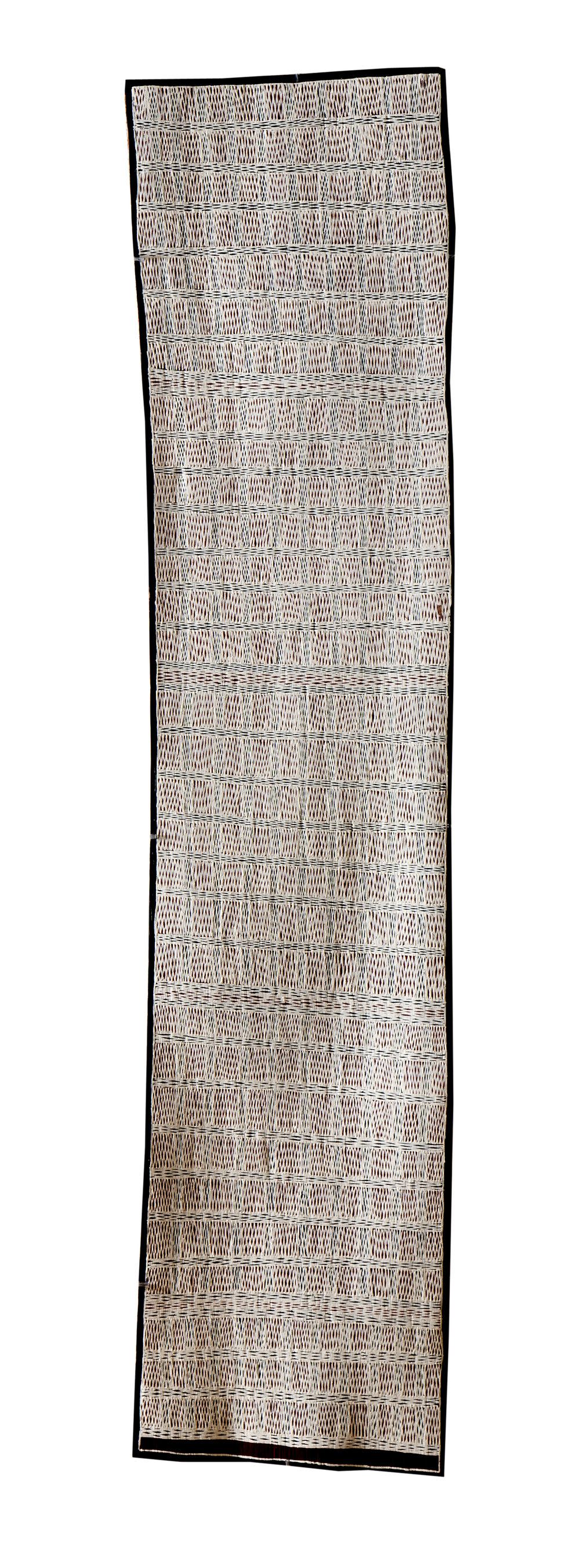 Marrnyula Munungurr  Untitled  Natural earth pigments on bark 36 x 160cm  Buku Larrnggay Mulka #4072P   EMAIL INQUIRY