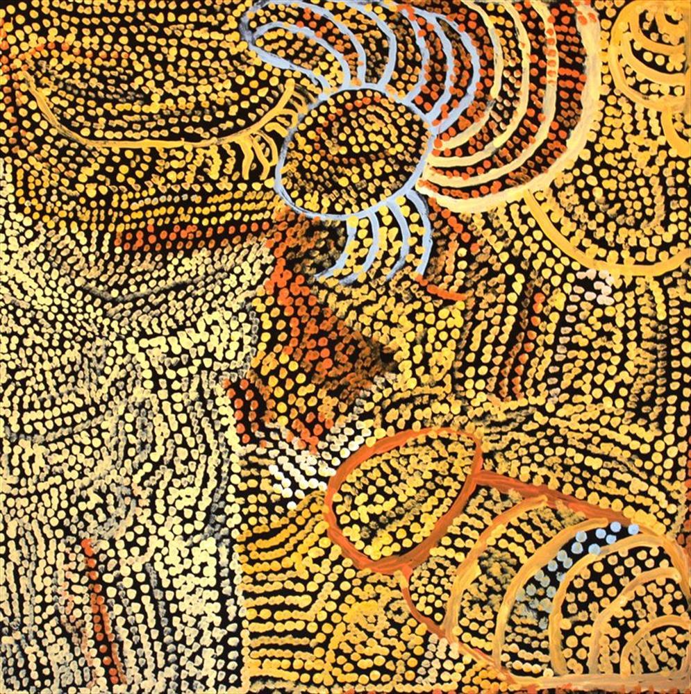 Milatjari Pumani  Ngura Walytja, Antara  35 x 35 inches (90 x 90 cm) acrylic on linen Mimili Maku Arts Catalog #455-12   EMAIL INQUIRY