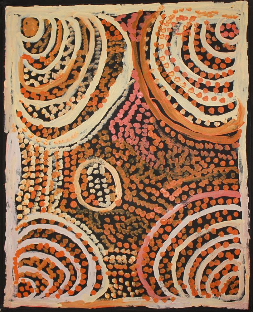 Milatjari Pumani  Ngura Walytja, Antara  30 x 24 inches (76 x 61 cm) acrylic on linen Mimili Maku Arts Catalog #545-12   EMAIL INQUIRY