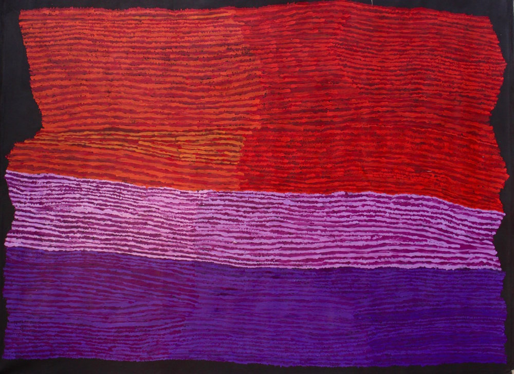 "KUNMANARA (RAY) KEN  Tali - Sand Dune  Acrylic on Belgian linen 1520 x 1980 mm (60 x 78"") Tjala Arts Catalog #392-16   EMAIL INQUIRY"
