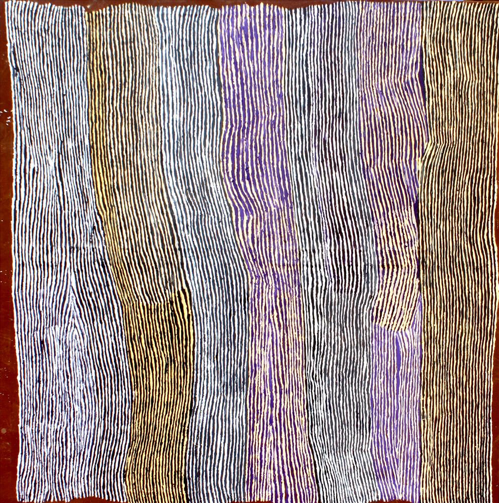 "KUNMANARA (RAY) KEN  Tali - Sand Dune  Acrylic on Belgian linen 1520 x 1980 mm (60 x 78"") Tjala Arts Catalog #136-16   EMAIL INQUIRY"