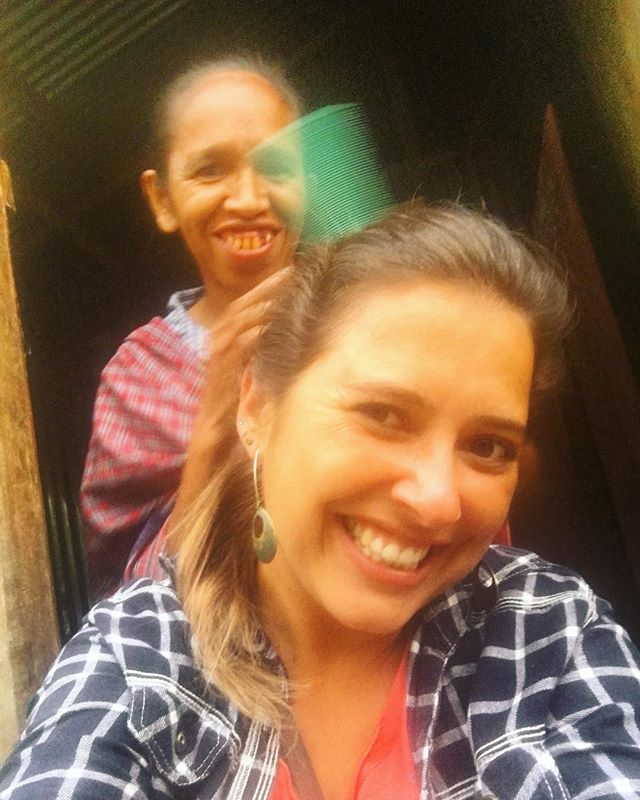 I love the monthly lice check up, it's the best scalp massage ever 😜 #familylove #peacecorps #timorleste