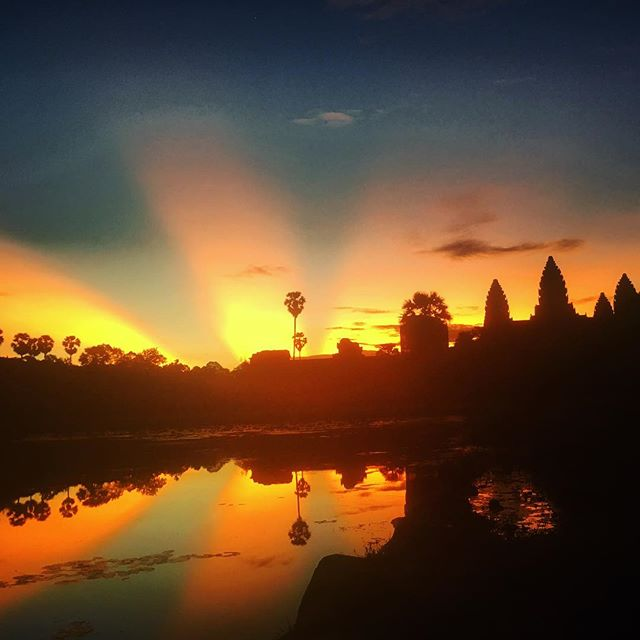 Nature + History + Sunrise #Cambodia #foreveronvacation