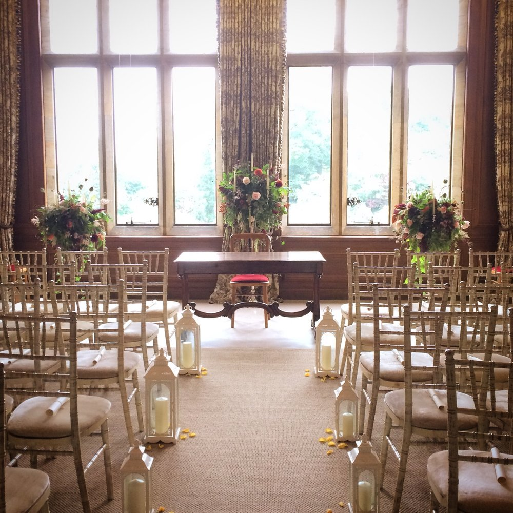 The ceremony room at Cowdray House