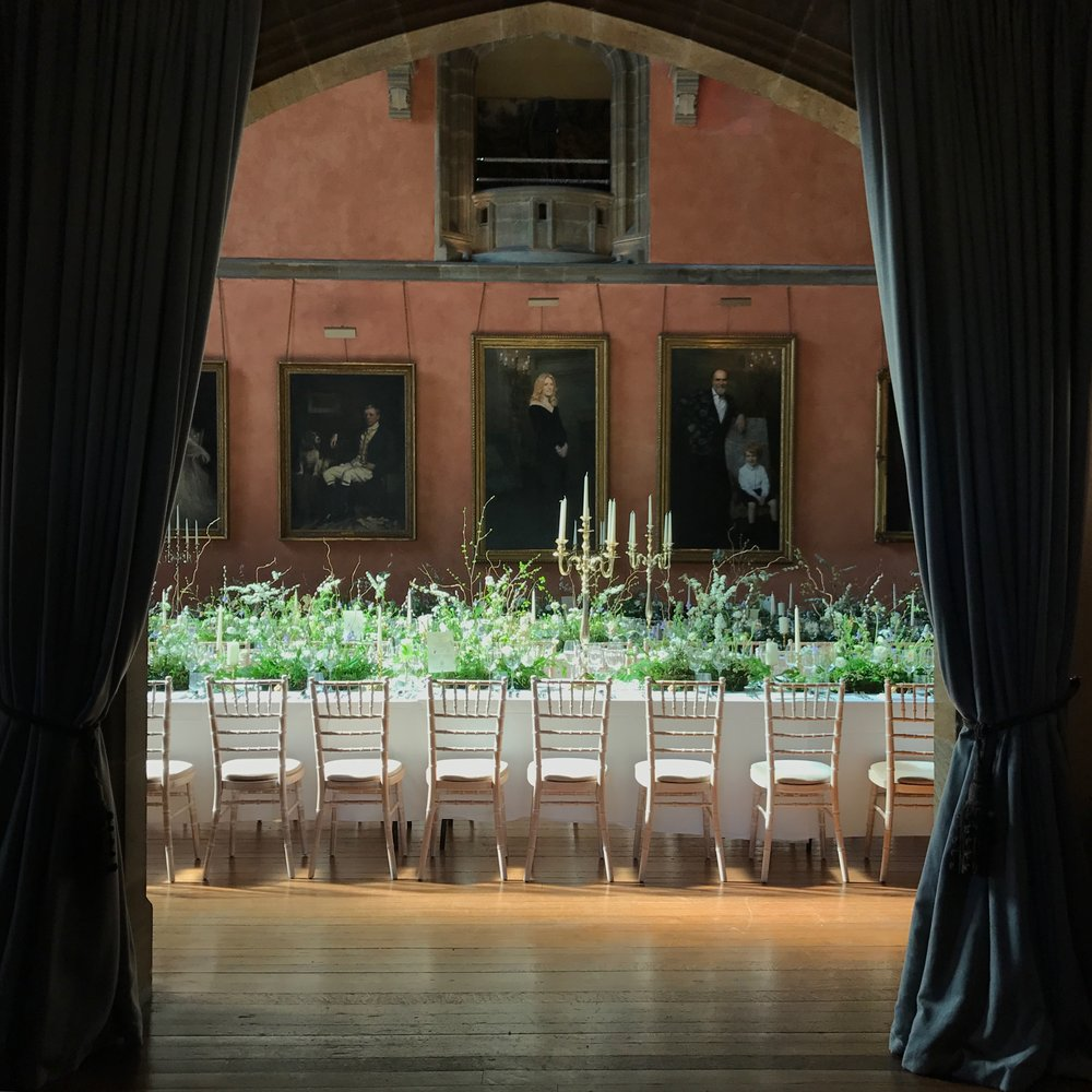Buck Hall, Cowdray House for Sally and Tom'  s Spring Wedding