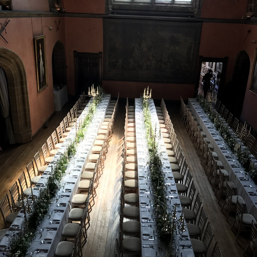 Buck Hall Cowdray House Wedding Banquet