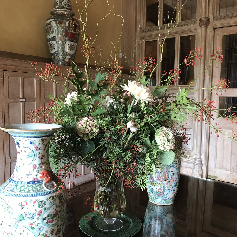 Hall Flowers at Cowdray House
