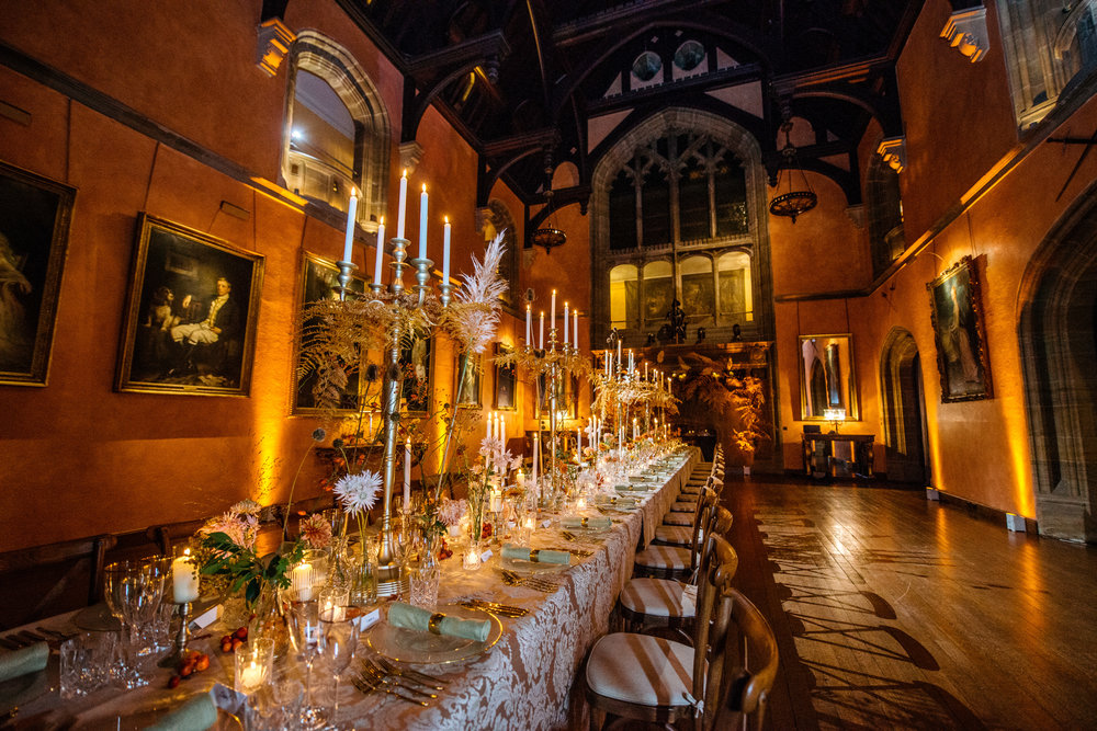 Buck Hall Cowdray House dressed for Autumn Dinner by This Floral Life