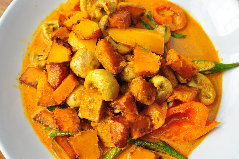 Pumpkin and Mushroom Curry