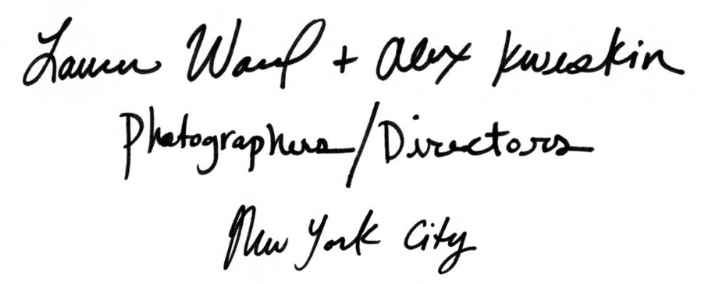 Ward + Kweskin | Lauren Ward + Alex Kweskin | Photographers / Directors | New York City