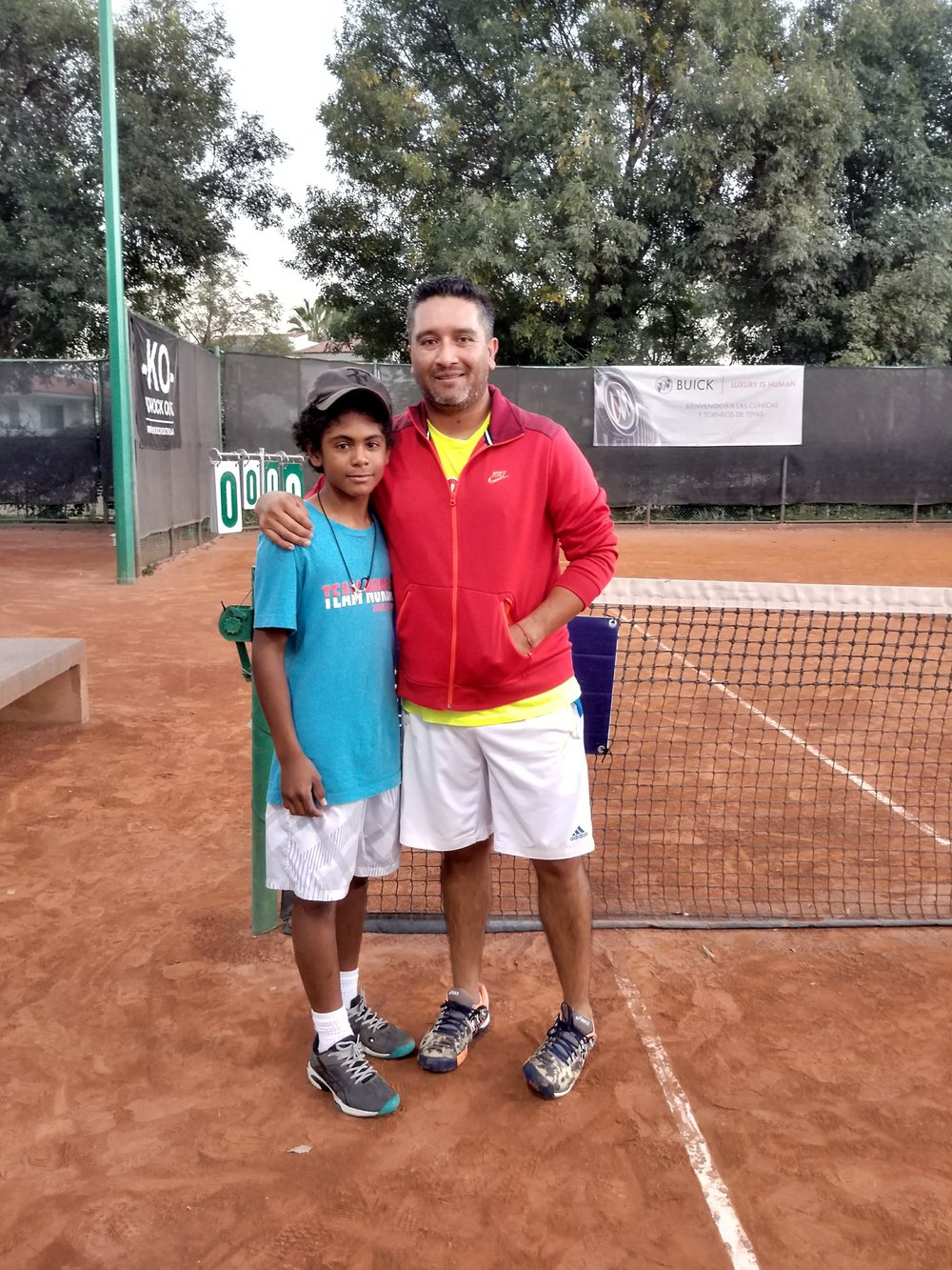 Head Coach Sergio Ruvalcaba with Santiago in 2017 at Puerta de Hierro Club in Guadalajara