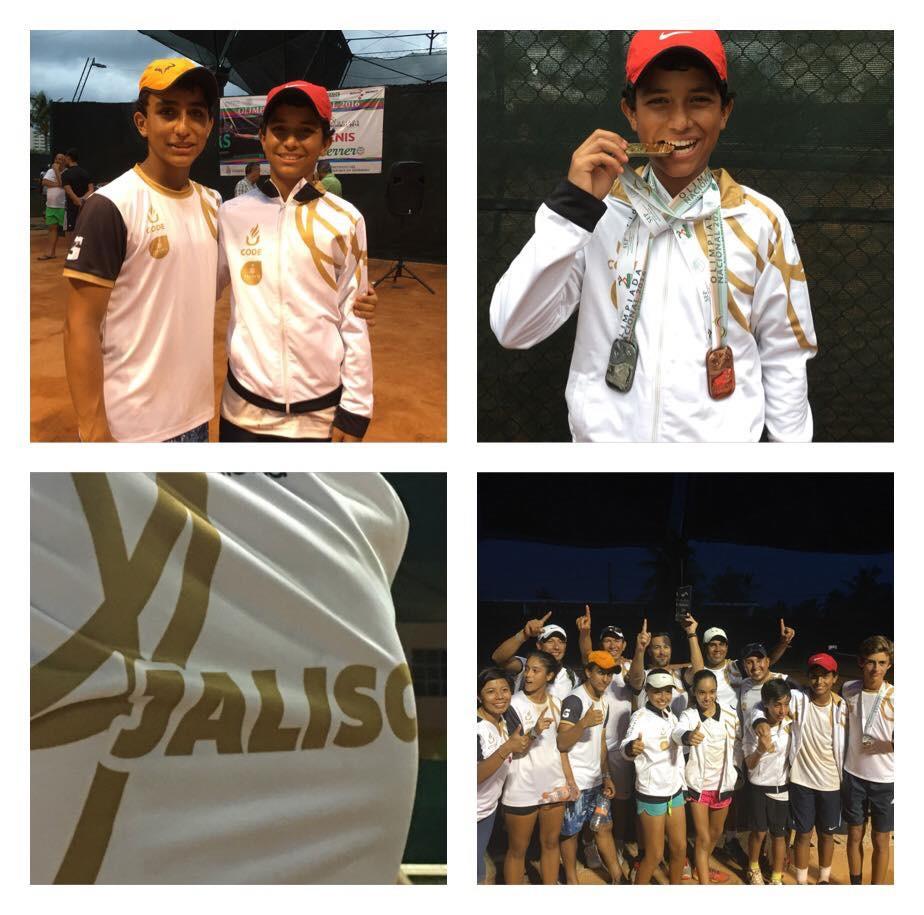 Academia de Tenis Jorge Vergara students representing Team Jalisco