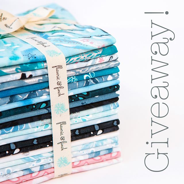 Hey! It's a giveaway! 😁We're feeling the winter vibes ❄️ and want to share a lil' bundle of our frosty fresh wintery collection #enchantedlakefabric. (Swipe to see full collection)👉 To enter for a chance to win the fat quarter bundle 1️⃣like this post 2️⃣follow us @flaurieandfinch and 3️⃣tag a friend who you love to chill with in the comments below. Every tag counts as one entry, so don't leave anyone out - that would be ice cold.  Giveaway closes on Monday 12/17 at 4PM PST. Good luck 🤗