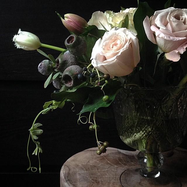 pamelalovenyc: Shooting with amazing flowers from @2hflowers #flowersandjewels