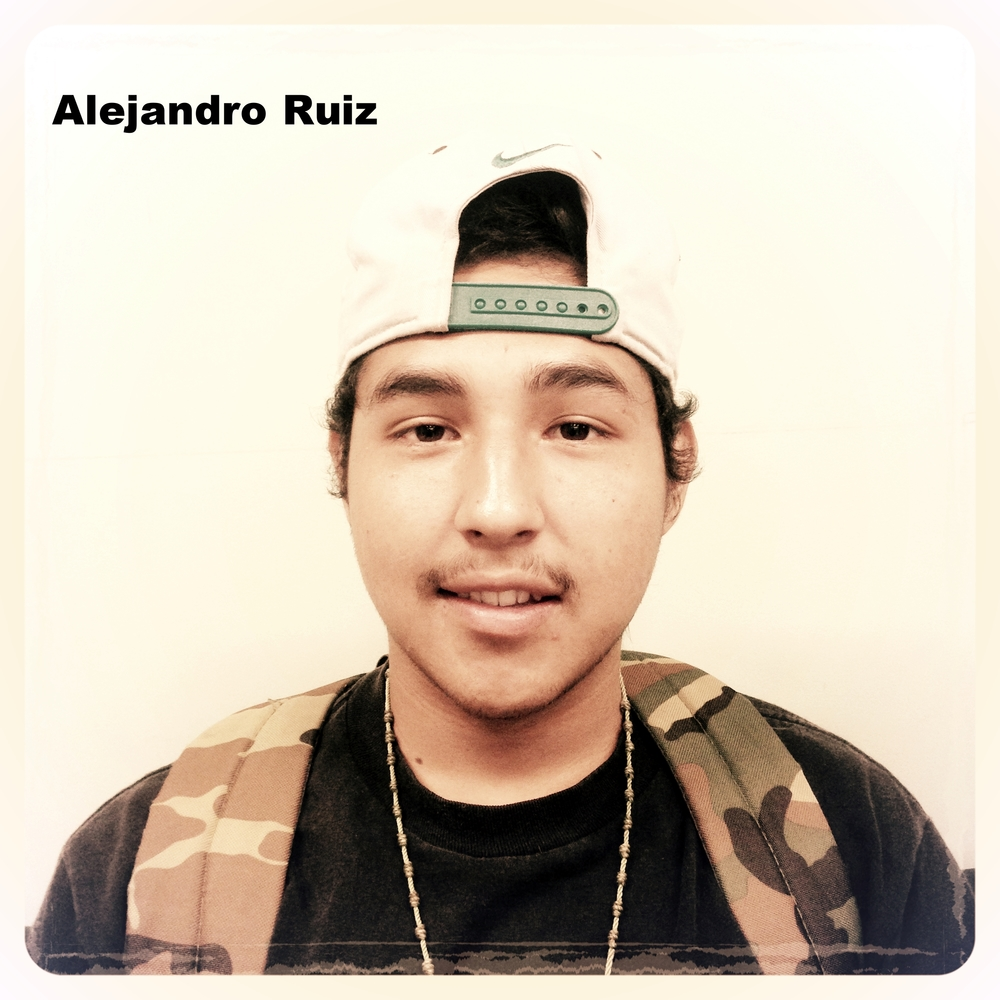My name is Alejandro Ruiz and I was born in Berkeley, but raised in Oakland . I'm currently attending Bunche Academy as an 11th grader. I will be graduating in the year 2017 and am planning to go straight into the military after I graduate. My main goal is to find a stable job  with a good job pay and help my mom out as much as possible. On my free time I like to go play soccer, spend time with my mom, and draw. My favorite food is cheesecake, there's something about it that draws me to it. One thing I hope to accomplish is to help my community, or give something back to the community.