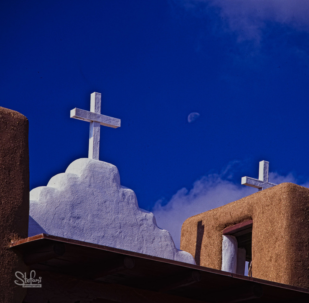 MOONRISE AND CHURCH, TAOS