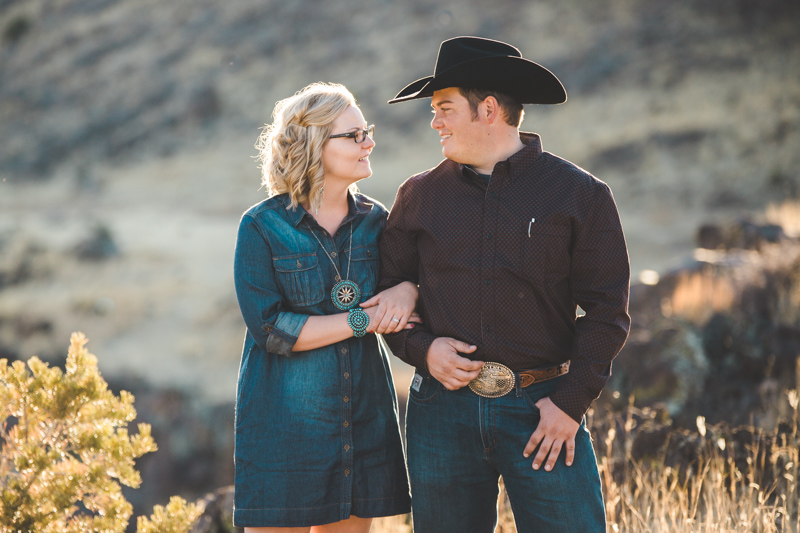 Arizona Cowboy Engagement Photography, X Diamond Ranch, Greer Arizona