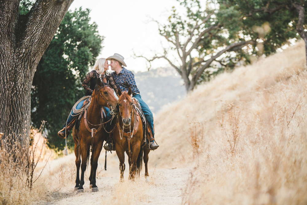 California Ranch Engagement Photography, Cowboy, Cowgirl, Western, Horses
