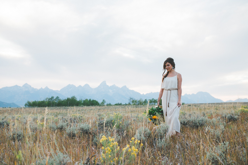 Jackson Hole Wyoming Wedding Photography | Styled Teton Bridal Shoot