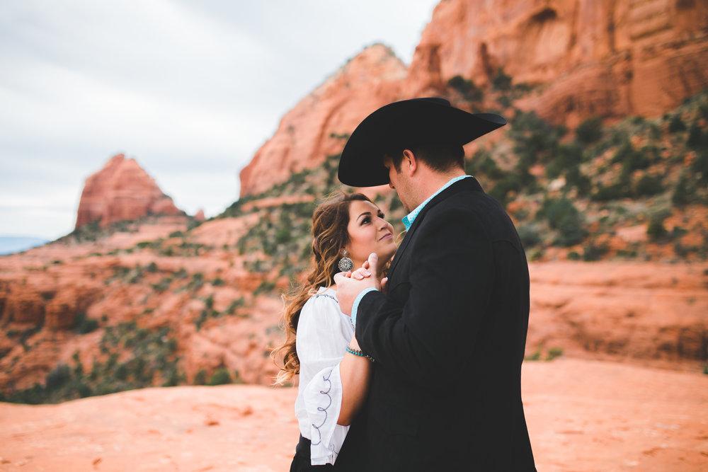 Sedona Arizona Engagement, Cactus, Western, Cowboy, Southwest, Desert