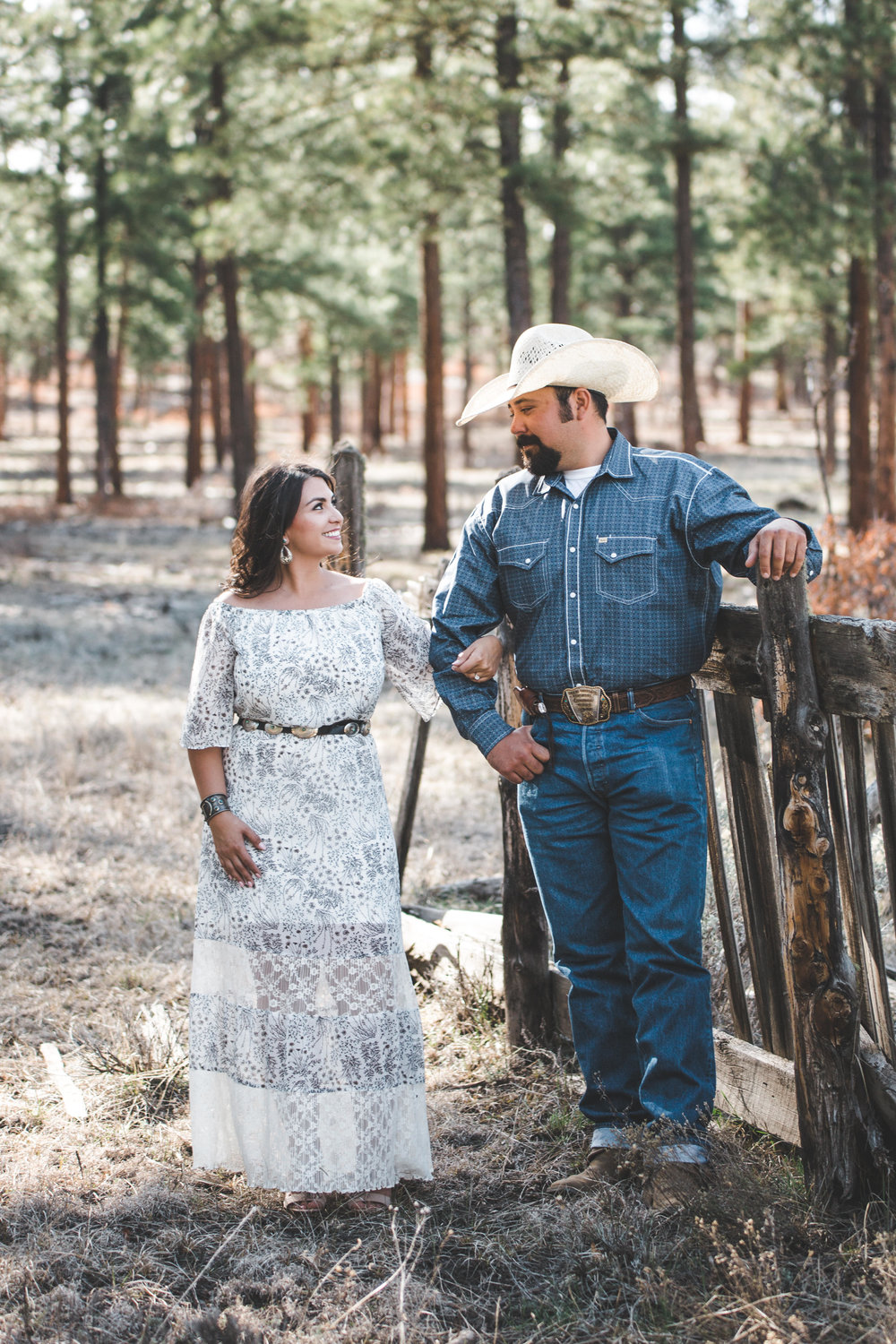 New Mexico Ranch Engagement Photography, - Cowboy, Horse, Couple, Western, Rustic