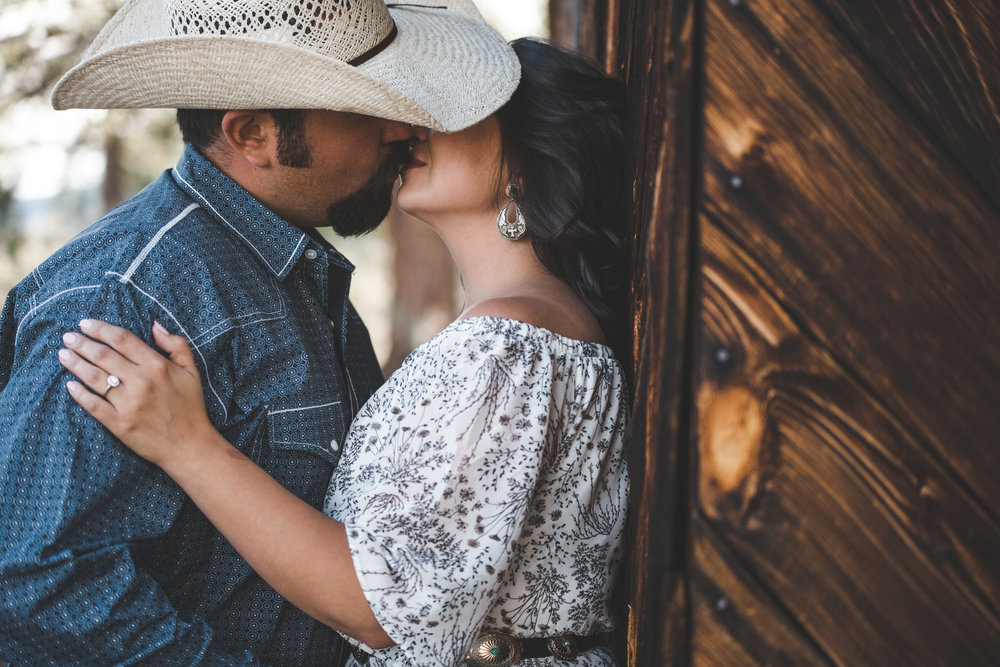 New Mexico Ranch Engagement Photography - Cowboy, Horse, Couple, Western, Rustic