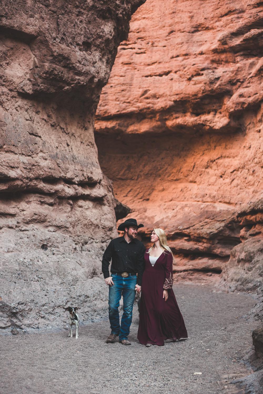 New Mexico Adventure Photography | Jim & Jess | Canyon, Campfire, S'mores, Cowboy, Pickup, Desert