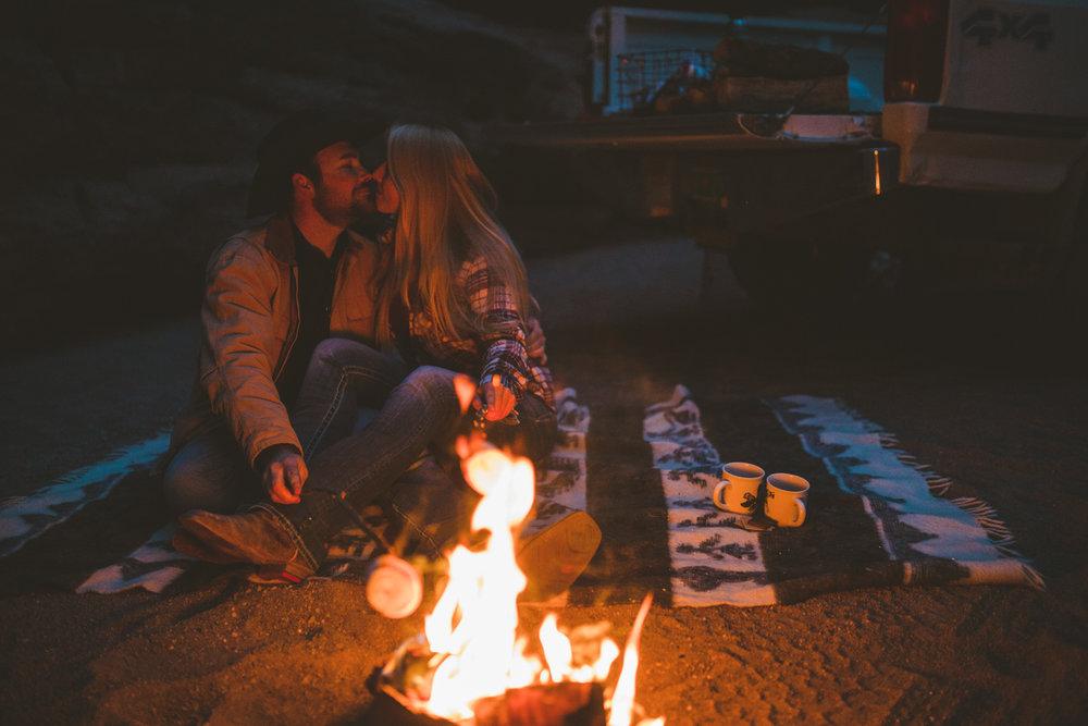 New Mexico Adventure Photography   Jim & Jess   Canyon, Campfire, S'mores, Cowboy, Pickup, Desert, Cactus