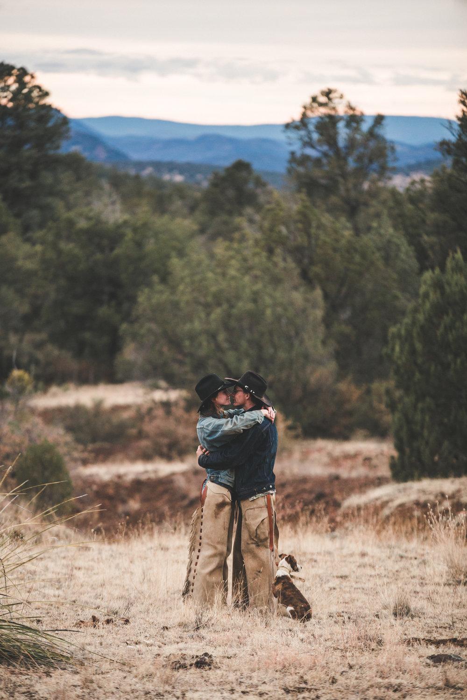Arizona Ranch Engagement | Kole & Elizabeth | Payson, Arizona, Ranch, Engagement, Couple Photography, Western, Horse, Cowboy