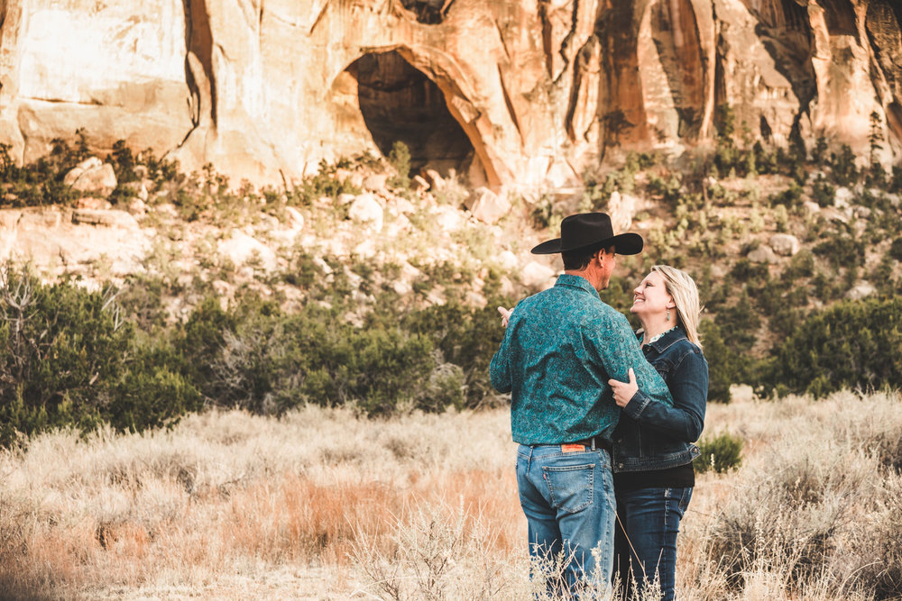 El Malpais New Mexico Engagement | Western, Desert, Cactus, Cowboy, Lava Rocks