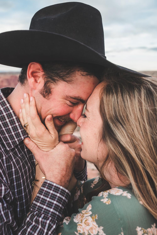 Moab Utah Engagement Photography   Cole & Elsie   Canyonlands, National Park, Destination, Adventure, Desert, Western, Cowboy, Ranch, Couple,