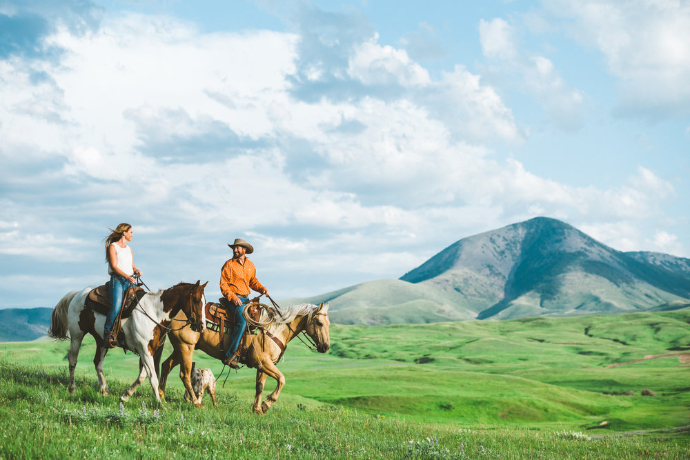 Montana Ranch Engagement | Western, Ranchlife, Lifestyle, Cowboy, Cowgirl, Cattle, Horse,