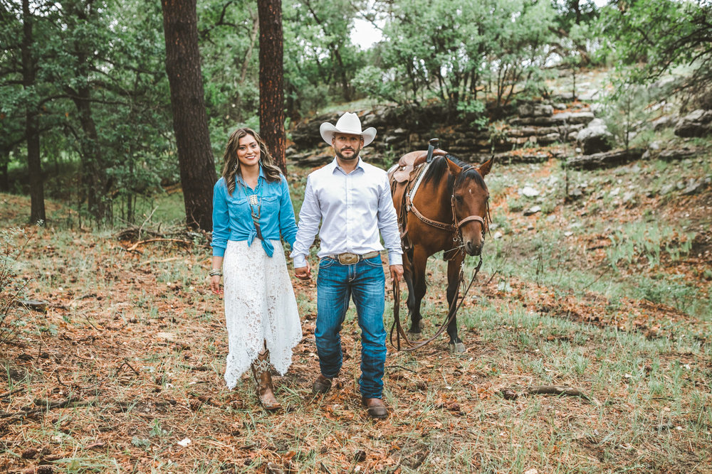 New Mexico Ranch Engagement | Aaron & Maria | Ranch, Western, Cactus, Southwest, Cowboy, Horse