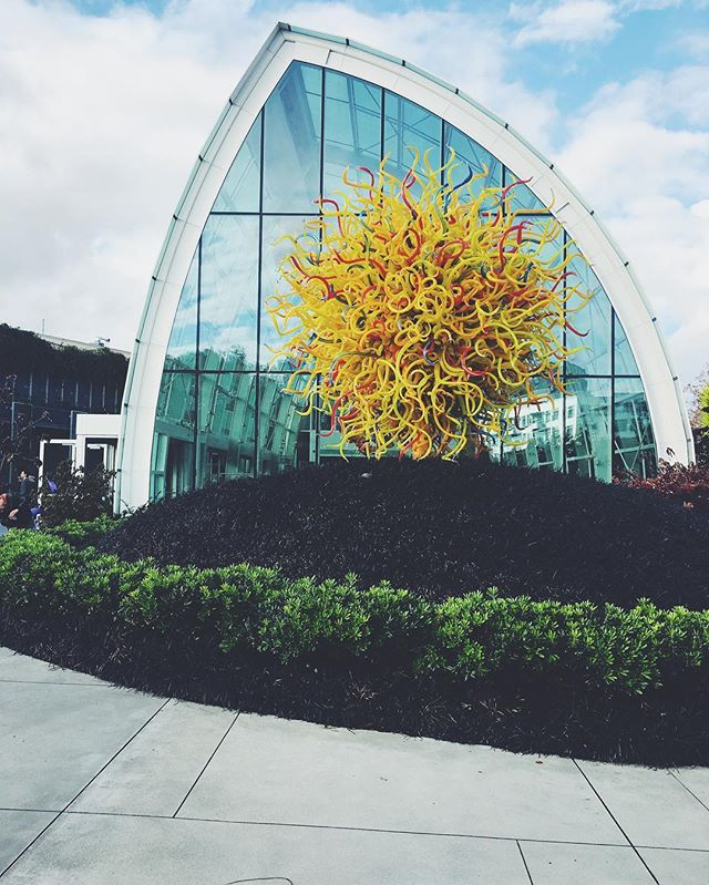 Chihuly in Seattle  #seattle #chihuly #art #glassblowing #mindblowing #glass #garden #beautiful #vsco #vscocam