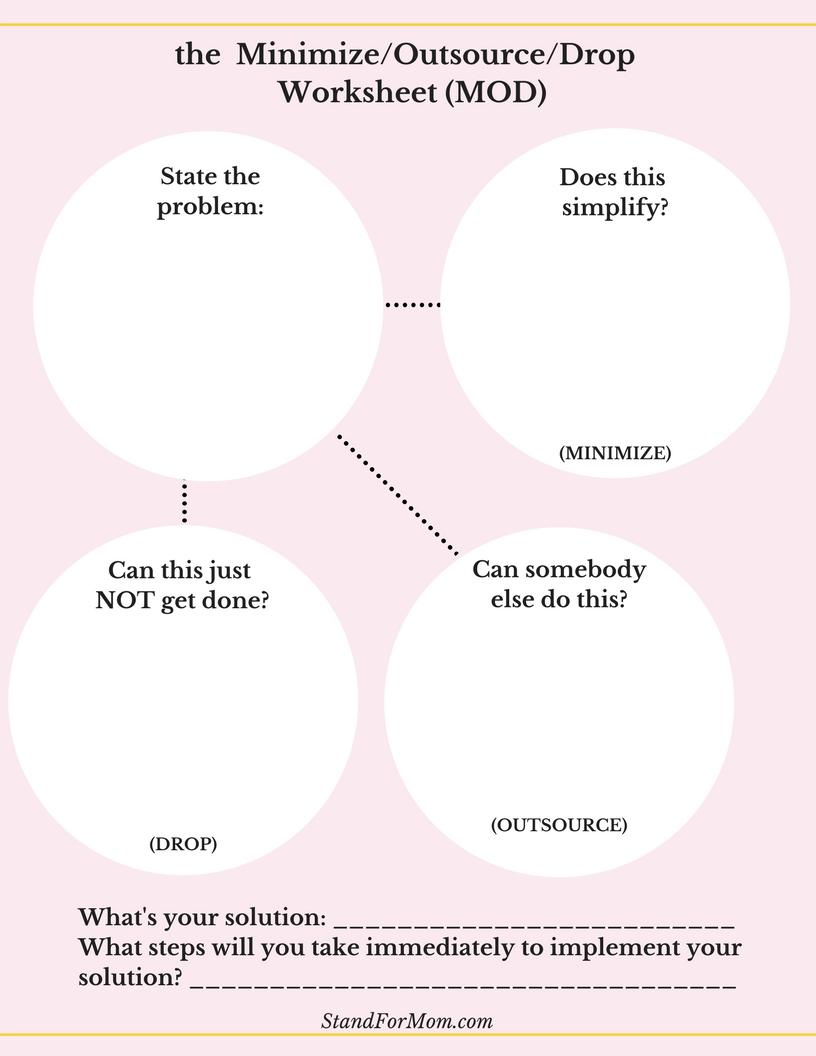 MOD worksheet for problem solving