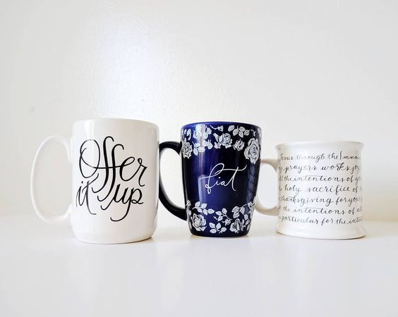 Rose Harrington fiat and offer it up mugs