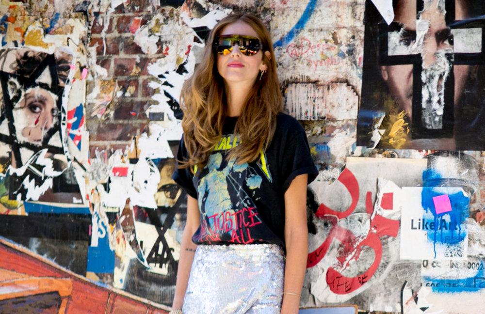 Chiara Ferragni, aka The Blonde Salad, at New York Fashion Week. Photo by Imaxtree