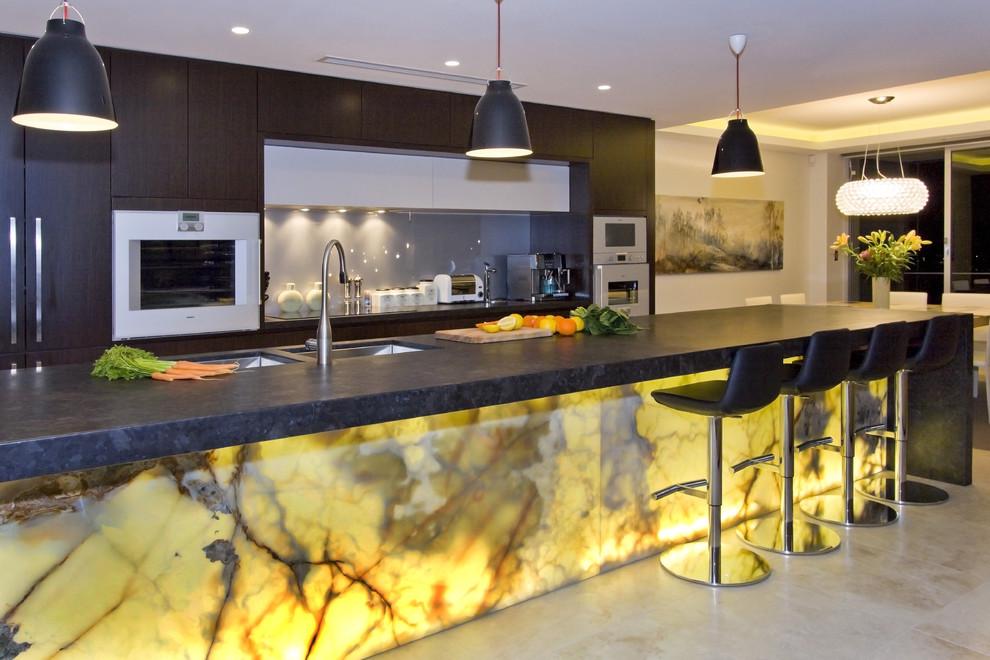 Onyx Glass Kitchen Splashback