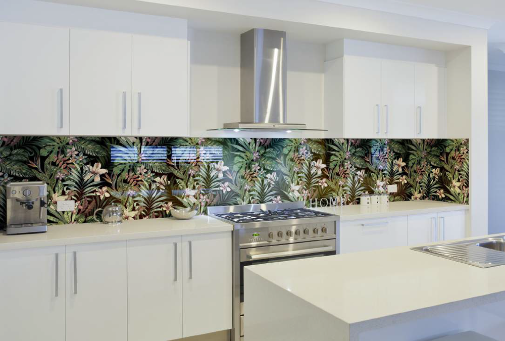 Attrayant Floral Kitchen Splashback