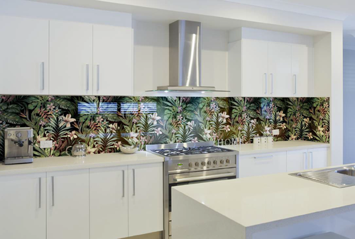 Floral Kitchen Splashback