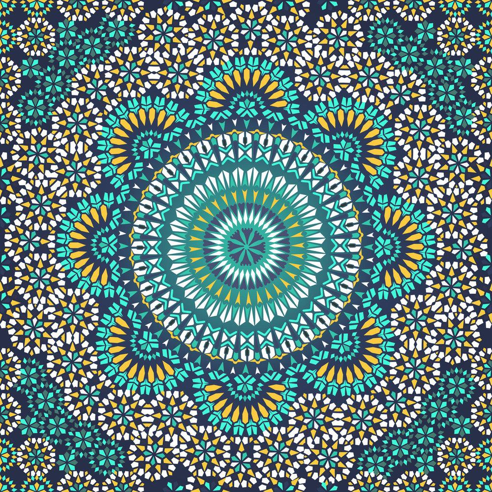 Moroccan Pattern Custom Decorating